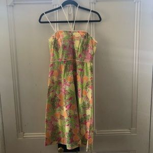 Lilly Pulitzer Juice Bar Halter/Strapless Dress